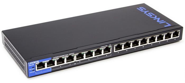 Thiết bị mạng Switch PoE LINKSYS LGS116P