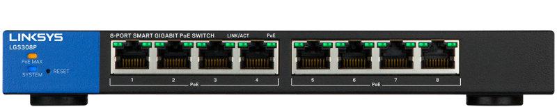Thiết bị mạng Switch PoE LINKSYS LGS308P