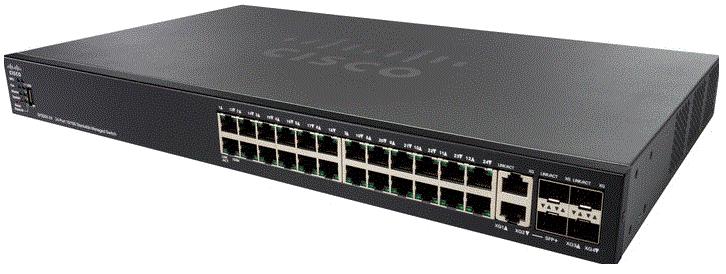 Thiết bị mạng CISCO SF550X-24MP-K9-EU